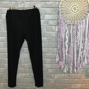 lularoe // classic solid black casual leggings tc